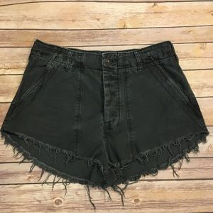 Free People Distressed Grey Shorts